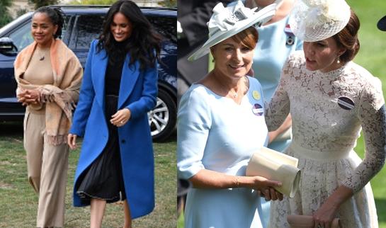 Doria Ragland vs. Carole Middleton. Mama lui Meghan, tot mai prezentă în viaţa regală, în timp ce mama lui Kate rămâne în umbră