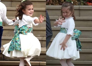 Prinţesa Charlotte are concurenţă! Fiica lui Robbie Williams şi-a făcut debutul public şi a captat toate privirile