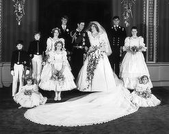 Fotografii de arhivă cu paji şi domnişoare de onoare regale