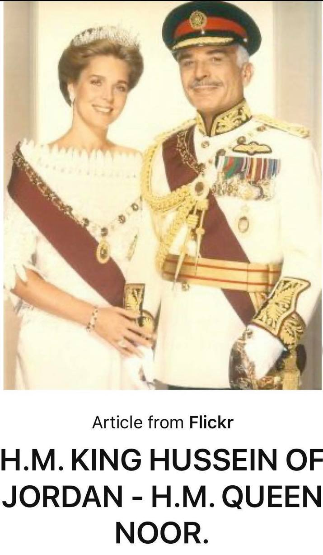 Noor şi Regele Hussein (Foto Pinterest)