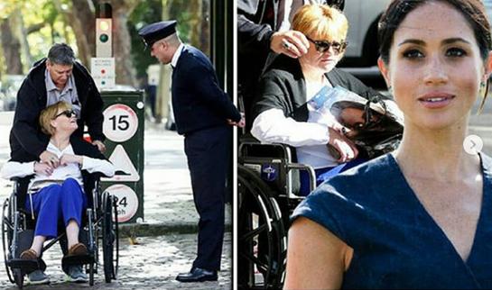 Sora vitregă a lui Meghan Markle, ţintuită în scaun cu rotile, alungată de la Palatul Kensington