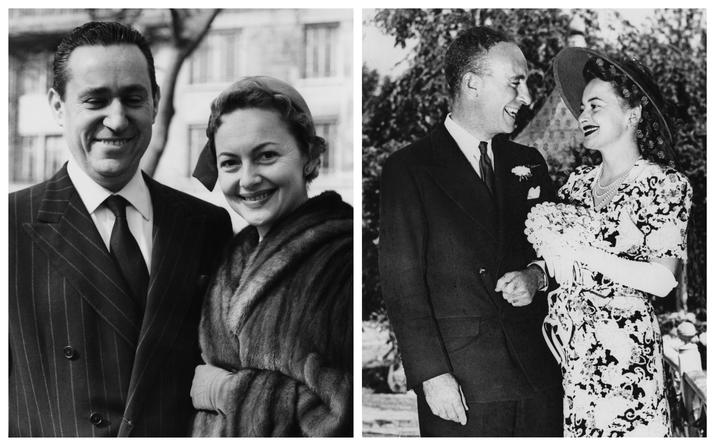 Olivia a făst căsătorită de două ori: cu jurnalistul Pierre Galante (stânga) şi cu Marcus Goodrich
