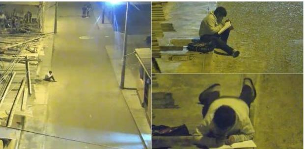 Povestea băieţelului surprins când îşi face temele pe stradă, la lumina unui bec