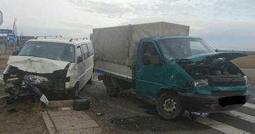 Zece persoane au fost implicate intr-un accident rutier grav, in Timis