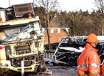 Gest sfasietor facut de mama celor doi frati care au murit in teribilul accident din Olanda. Femeia este daramata de durere