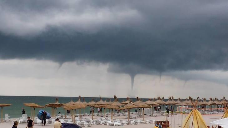 O tornada a lovit in plin litoralul Marii Negre!