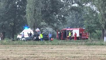 Accident cumplit la poarta unitatii militare de la Boboc, judetul Buzau. EL este militarul care a murit. Alte trei persoane au fost grav ranite