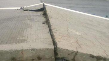 Pericol pe Autostrada Soarelui dupa ce placile de beton s-au desprins!