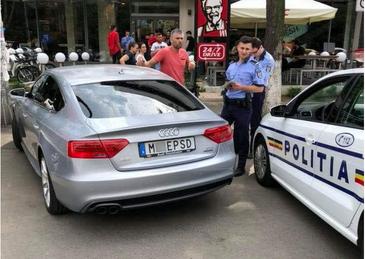 Cum au reactionat politstii cand au vazut masina devenita virala cu numarul care contine o injuratura la adresa PSD . I-au pus gand rau soferului?