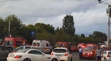 Accident in Capitala, dupa ce un sofer a pierdut controlul volanului! Au fost inregistrate trei victime, printre care si o fetita de 6 ani!