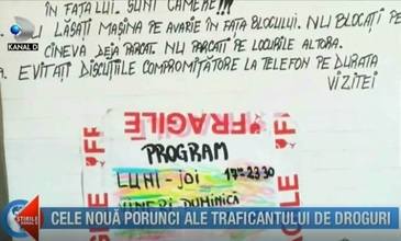 Fara precedent! Cele 9 porunci ale traficantului de droguri din Bucuresti. Cine nu respecta cerintele nu primea marfa