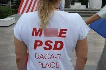 """Tricourile cu mesaje vulgare precum """"M**e PSD!"""" sunt un magnet pentru amenzi! Iata ce risca cei ce poarta astfel de tricouri!"""