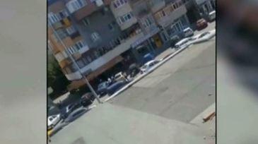 Bataie in strada la Targu-Jiu! Mai multi indivizi inarmati cu topoare si sabii au avariat masinile parcate