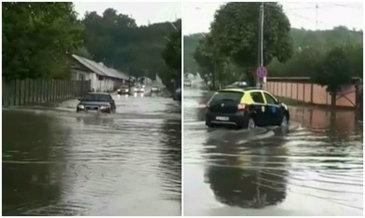 Ploile torentiale au facut prapad in Dambovita! Orasul Moreni a ajuns sub ape dupa o ploaie de vara!