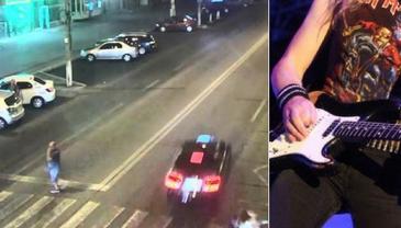 Accident in Galati! Chitaristul unei trupe rock, lovit de o masina in timpce traversa pe trecerea de pietoni