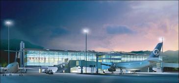 Primul aeroport construit in Romania in ultimii 50 de ani incepe sa prinda contur. In Brasov se lucreaza la foc continuu