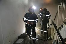 Incendiu intr-un bloc din Capitala - o femeie de 79 de ani a murit, sotul ei a fost ranit