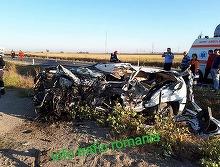 Accident mortal la Caracal! O masina a intrat cu 160km/h intr-un TIR