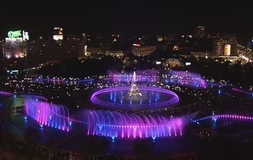 Spectacol in centrul Capitalei! Show spectaculos de apa, muzica si lumini