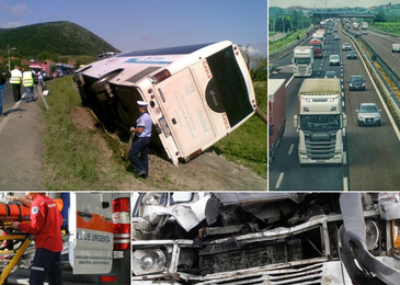 Accident grav! Un autobuz plin cu pasageri, printre care si romani, lovit in plin de un TIR