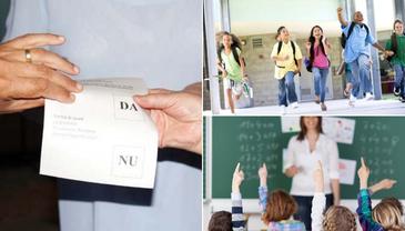 Elevii ar putea fi liberi pe 5 octombrie, inainte de organizarea referendumului din 6 si 7 octombrie