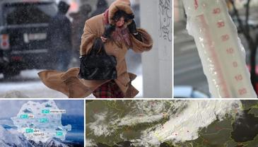 Valul de aer polar prognozat de specialisti a ajuns in Romania