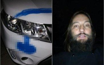 Maşina unui preot ieşean, vandalizată! Autorii au desenat semne obscene pe caroseria autovehiculului