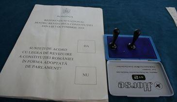 """Referendum pentru redefinirea familiei în Constituţie – 20,96% prezenţă la vot; din totalul de voturi exprimate, 91% au votat """"Da"""" şi 6,42% au optat pentru """"Nu"""""""