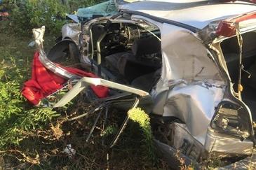 Tragedie in Lugoj! Patru oameni au pierit astazi dupa ce masina in care se aflau a fost spulberata de tren
