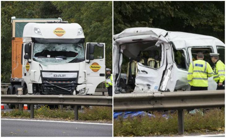 Doi morţi şi patru răniţi în urma unui grav accident pe o autostradă din Marea Britanie