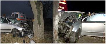 Accident grav în Belgia! O maşină în care se aflau trei români a intrat într-un copac! Unul dintre pasageri a murit pe loc