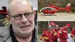 Imagini dramatice cu Florin Busuioc, pe targă, în timp ce era dus către elicopterul SMURD