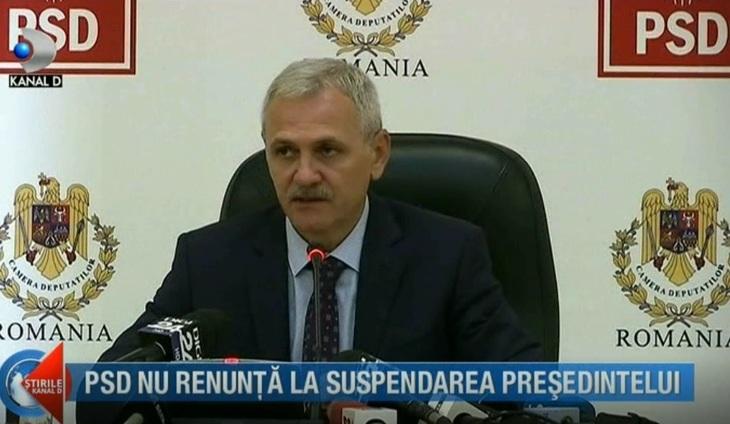 PSD nu renunta la suspendarea presedintelui. Ce spune Liviu Dragnea