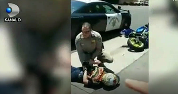 Este REVOLTATOR! Un politist a lovit un tanar cu masina de patrulare, apoi a facut ASTA!