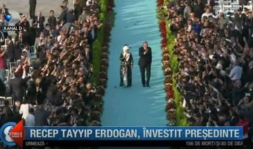 Recep Tayyip Erdogan, investit presedinte! Palatul prezidential din Ankara a imbracat straie de sarbatoare