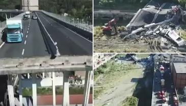 Imagini cutremuratoare filmate cu drona dupa ce podul din Genova s-a prabusit! Dumnezeule, e cel mai mare dezastru din ultimii 17 ani!