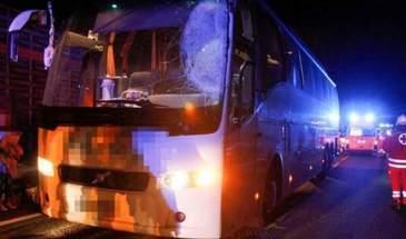Accident in Austria! Un sofer roman a intrat cu camionul intr-un autocar cu 41 de pasageri