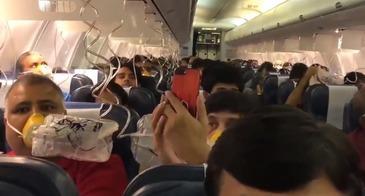 Zeci de pasageri au inceput sa sangereze pe nas si prin urechi in timpul unui zbor. Peste 30 de persoane au avut probleme mari