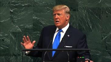 Donald Trump, spectacol in timpul discursului tinut in cadrul Adunarii Generale a ONU