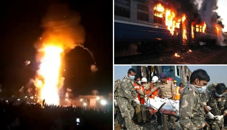Imagini cu un puternic impact emoţional! Momentul în care un tren intră cu viteză în mulţime. Sunt cel puţin 50 de morţi