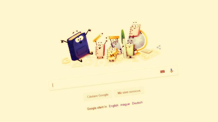 Prima zi de scoala: cum sarbatoreste Google prima zi de scoala