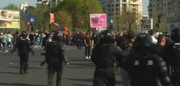 Alerta in Bucuresti! Mii de suporteri au iesit in strada, inainte de meciul Steaua-Dinamo