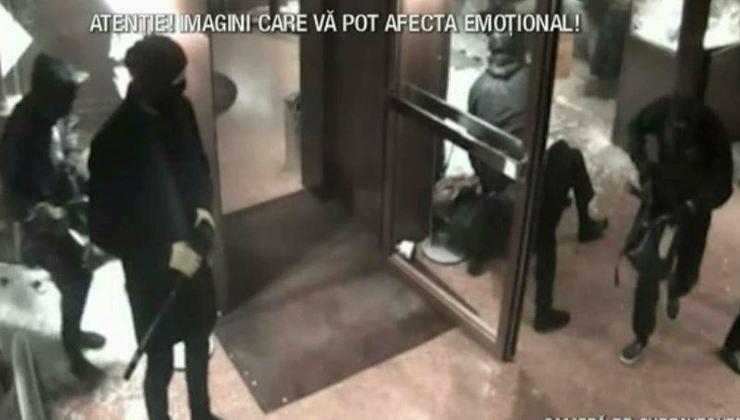Jaf in valoare de milioane de euro, executat doar in 60 de secunde de hotii scoliti la Acaedmia Infractorilor din Romania. Au folosit topoare si au batut clientii cu bestialitate. A fost iadul pe pamant