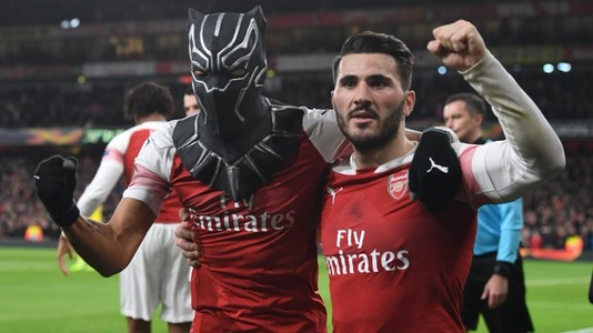 "VIDEO | Emeryck ""Black Panther"" Aubameyang. Moment INEDIT pe Emirates Stadium după al treilea gol al lui Arsenal"