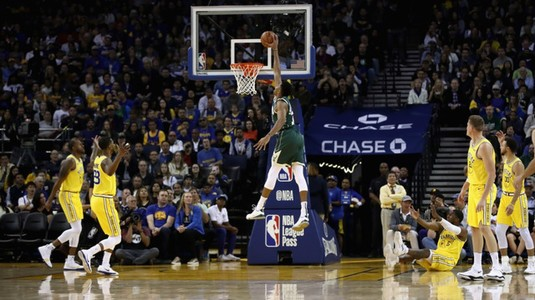 VIDEO | Rezumate NBA. Milwaukee Bucks îşi continuă defilarea în NBA. Victorie cu Golden State Warriors, pe arena din San Francisco