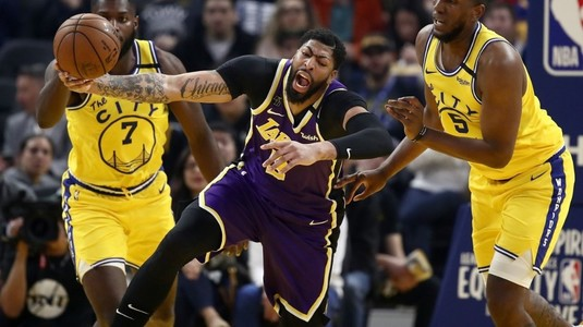 VIDEO | Rezumate NBA. Fără LeBron James, Los Angeles Lakers s-a impus fără probleme pe terenul celor de la Golden State Warriors