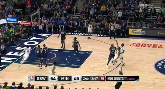 Meci nebun în NBA, în direct pe Telekom Sport! VIDEO | Golden State Warriors, învinsă de Minnesota Timberwolves