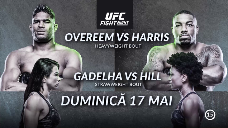 UFC Fight Night: Overeem vs Harris, premieră pe Look Plus, de la 23:00. Gala a fost LIVE pe Look Sport